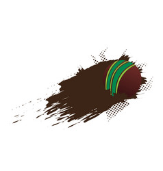 isolated cricket ball with an effect vector image
