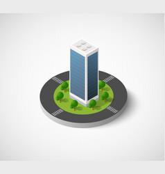 isometric city icon vector image