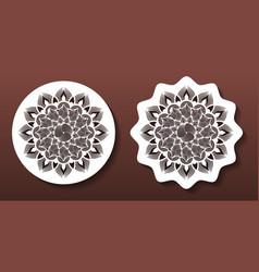 Laser cut mandala coasters or wall art panels cnc vector