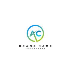 Letter ac logo design vector