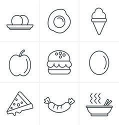 Line Icons Style food icons vector image