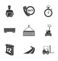 Logistic set icons in black style Big collection vector image