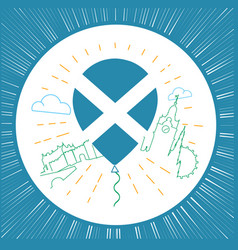 Logo for travel to scotland circle vector