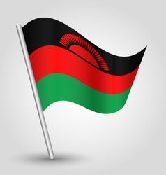 Malawian flag on pole vector