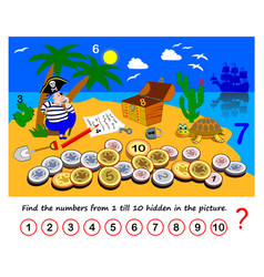 Math education for children logic puzzle game vector