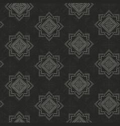 monochrome retro geometric pattern vector image