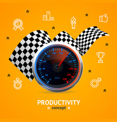 Motivation and productivity concept vector