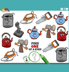 one a kind task for children with comic object vector image