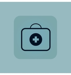 Pale blue first-aid kit icon vector