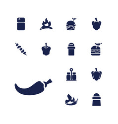 Pepper icons vector