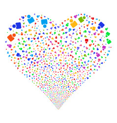 person fireworks heart vector image