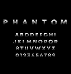phantom alphabet template letters and numbers vector image