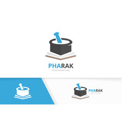 pharmacy and open book logo combination vector image