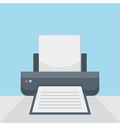 Printer on table vector image