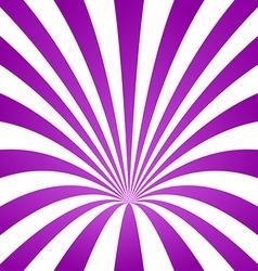 Purple striped cone design background vector