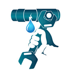 repair of water pipe vector image vector image