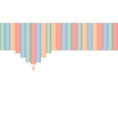 Row of color pencils vector image