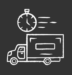 same day delivery chalk icon fast shipping vector image