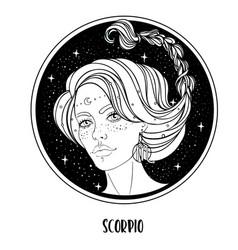 Scorpio astrological sign as a vector