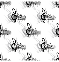 Seamless background music pattern vector image