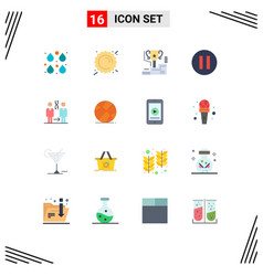 Set 16 commercial flat colors pack for cloning vector