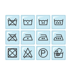 Set of instruction laundry icons care icons vector image