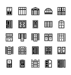 Shutters solid icons vector
