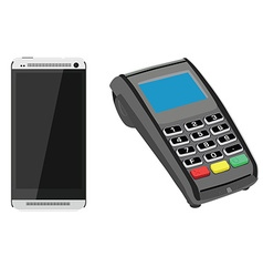 Smartphone and pos vector image