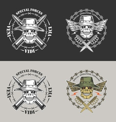 Spesial force emblem vector image
