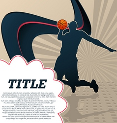sport template poster basketball vector image vector image