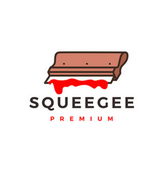 squeegee screen printing logo icon vector image