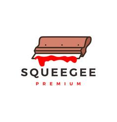 Squeegee screen printing logo icon vector