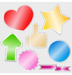 Striped stickers vector