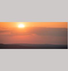 summer sunset monochrome background in orange vector image