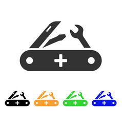 swiss knife icon vector image vector image