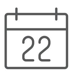 Thanksgiving calendar line icon holiday vector