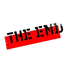 The End rubber stamp vector