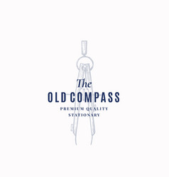the old compass abstract sign symbol or vector image