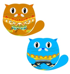 Two Cute Cat vector