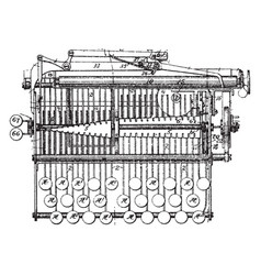 Type writing machine vintage vector