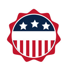 united states elections american flag emblem vector image