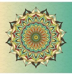ethnic oriental circle mandala vector image vector image