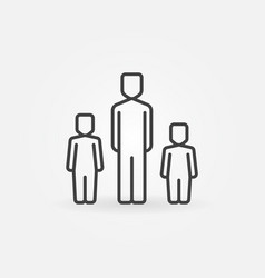 father with two children icon vector image vector image