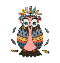 boho collection with wild west owl vector image vector image