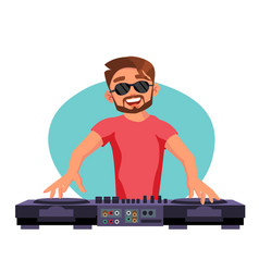 classic dj playing progressive electro vector image