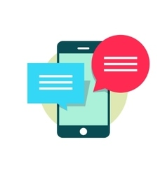 Concept of mobile phone chatting online texting vector image vector image