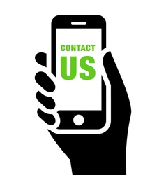 Contact Us sign vector image vector image