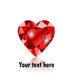 diamond heart shape vector image vector image