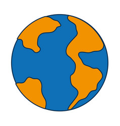 earth planet icon vector image vector image