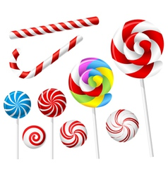 Lollipop and candy set vector image vector image